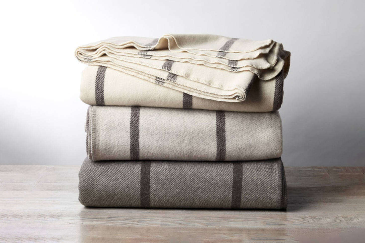 The Coyuchi Tahoe Climate Beneficial Wool Blanket is made from ultra-soft wool with a nice drape; $8 to $498 at Coyuchi.