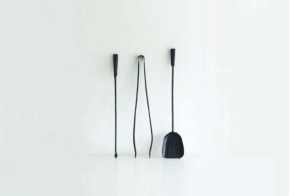 theferro & fuoco wall mounted fireplace tools is a set of three hand forg 18