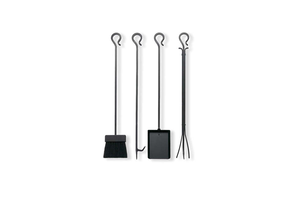 the black iron tools from pilgrim hearth are sold individually: the matte black 22