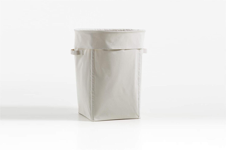 the crate & barrel canvas light natural hamper is \$\26. 13