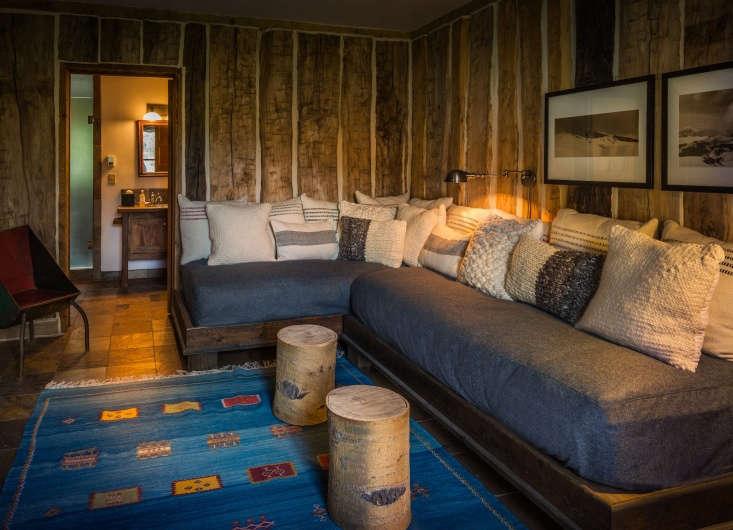 the log cabin living room. 13