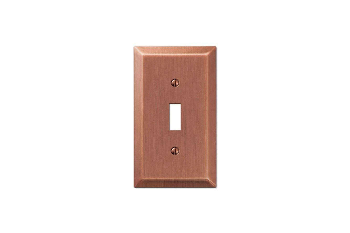 The Century Antique Copper Cover Plates are $3.73 each for the single toggle plate at Wallplates.com.