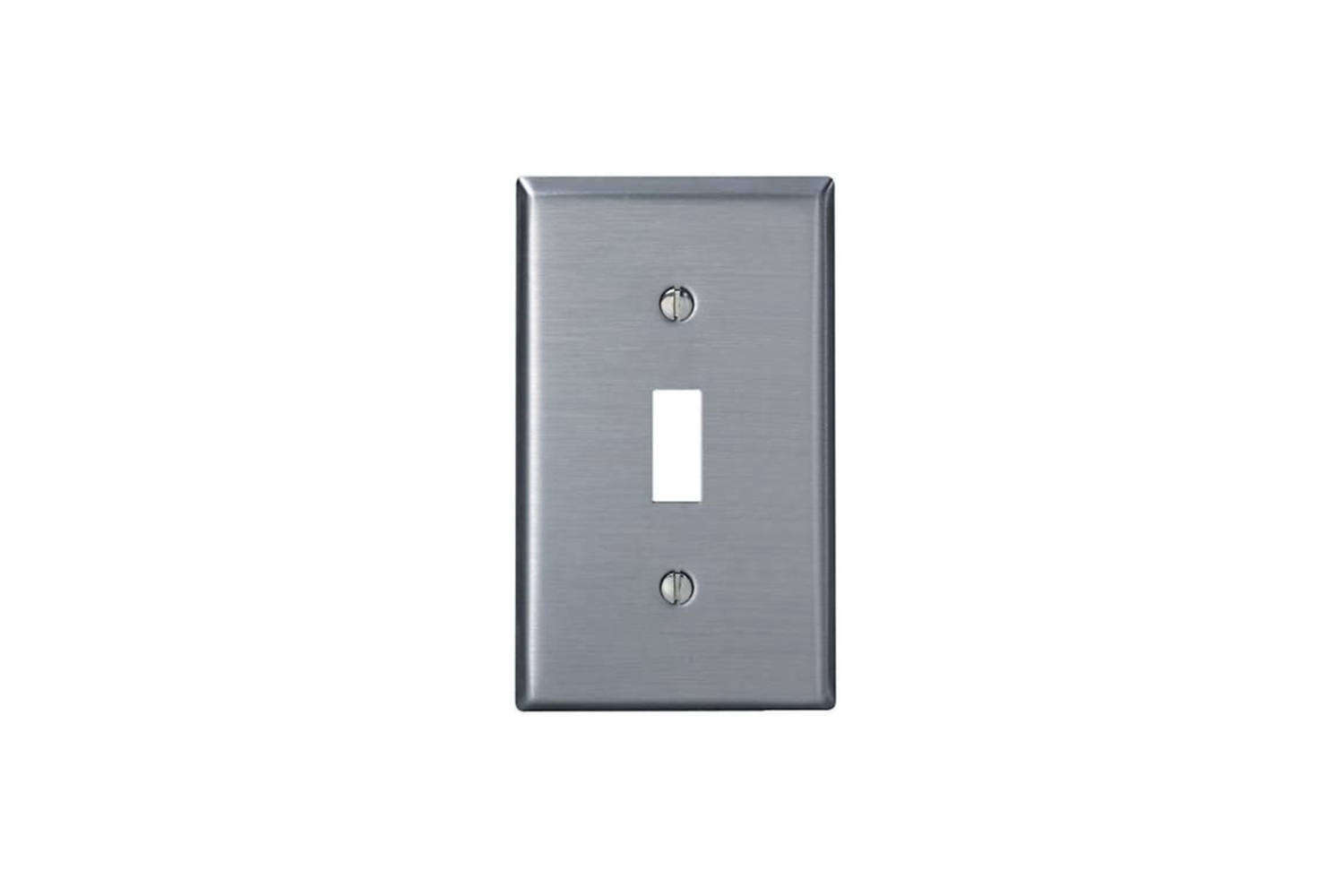 An affordable favorite among architects and designers, the Leviton Gang Toggle Device Switch Wallplate is $3. on Amazon.