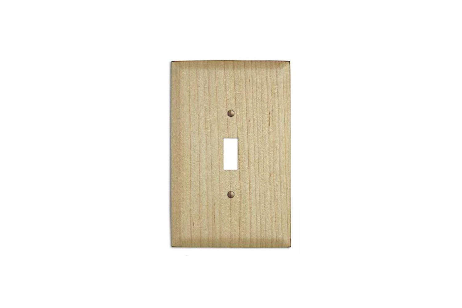 The Maple Wood Cover Plate starts at $9.99 at Wallplates.com.