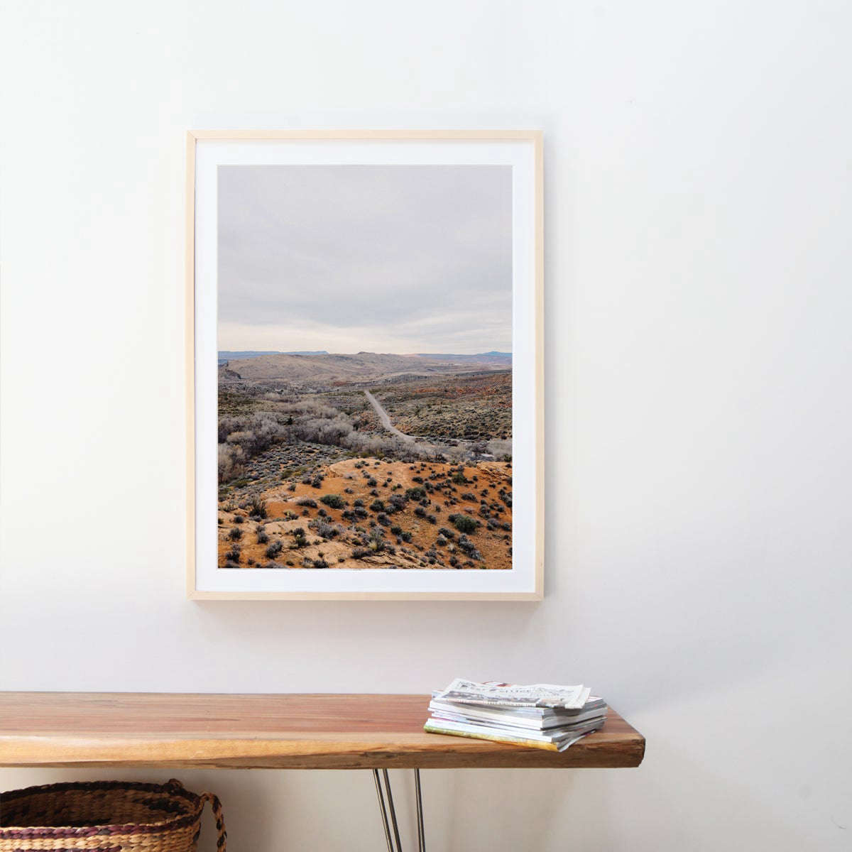 Gallery Frames in Maple (shown), Walnut, Black, and White start at $69 each from Artifact Uprising.