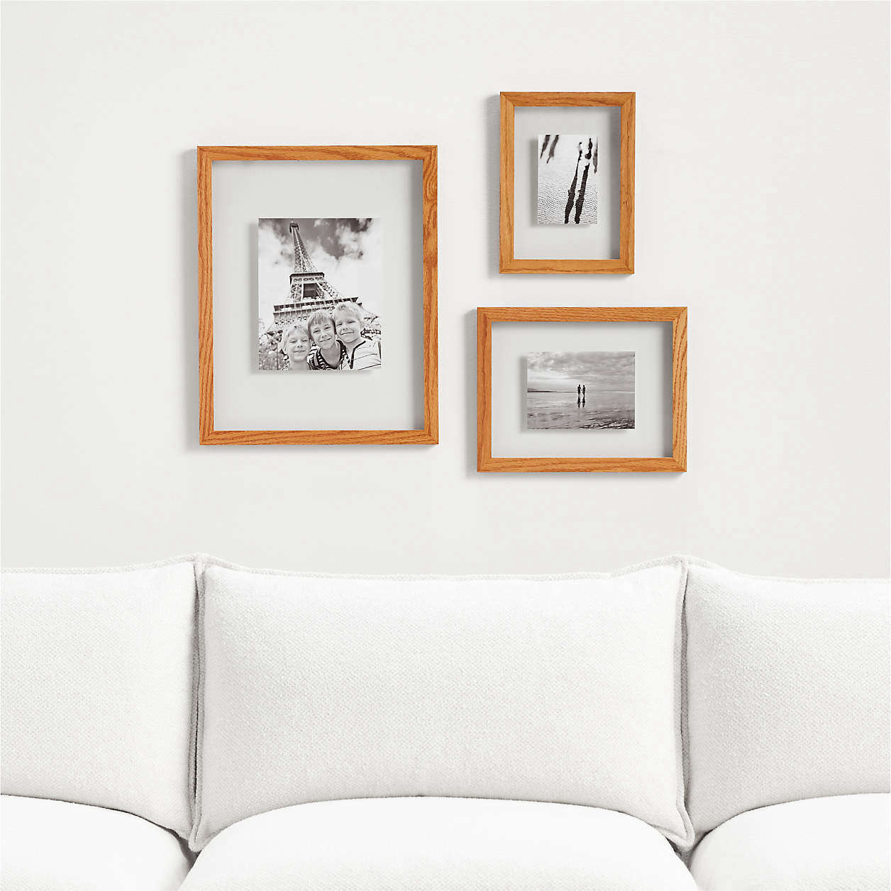 The Carlota Floating Frames range from $49.95 to $79.95 at Crate & Barrel.