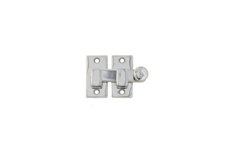 TheShutter Bar or Latch is made of solid brass and available finished in polished nickel (shown), polished unlacquered brass, or oil-rubbed bronze; $.75 at Historic House Parts.
