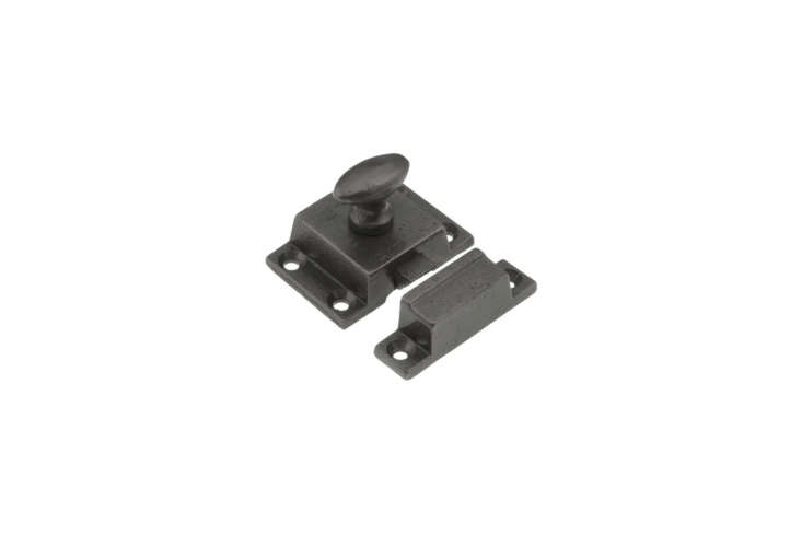 For a cast iron cabinet latch, House of Antique Hardware makes the Cast Iron Cabinet Latch with Oval Turn Piece for $loading=