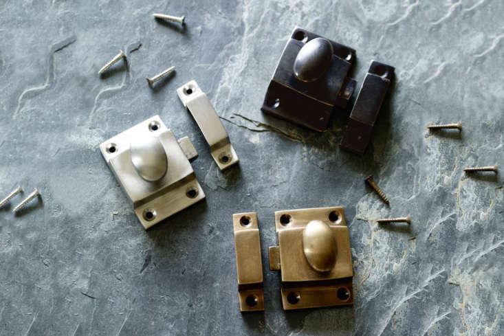 New to Rowen & Wren in the UK, theGrove Cabinet Latch in blackened bronze, brass, and matte nickel is £.