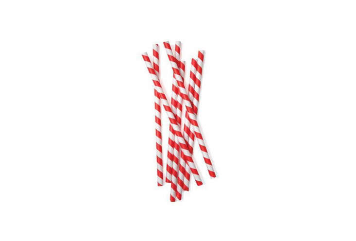 A set of  Red Paper Straws is $4 on Etsy.