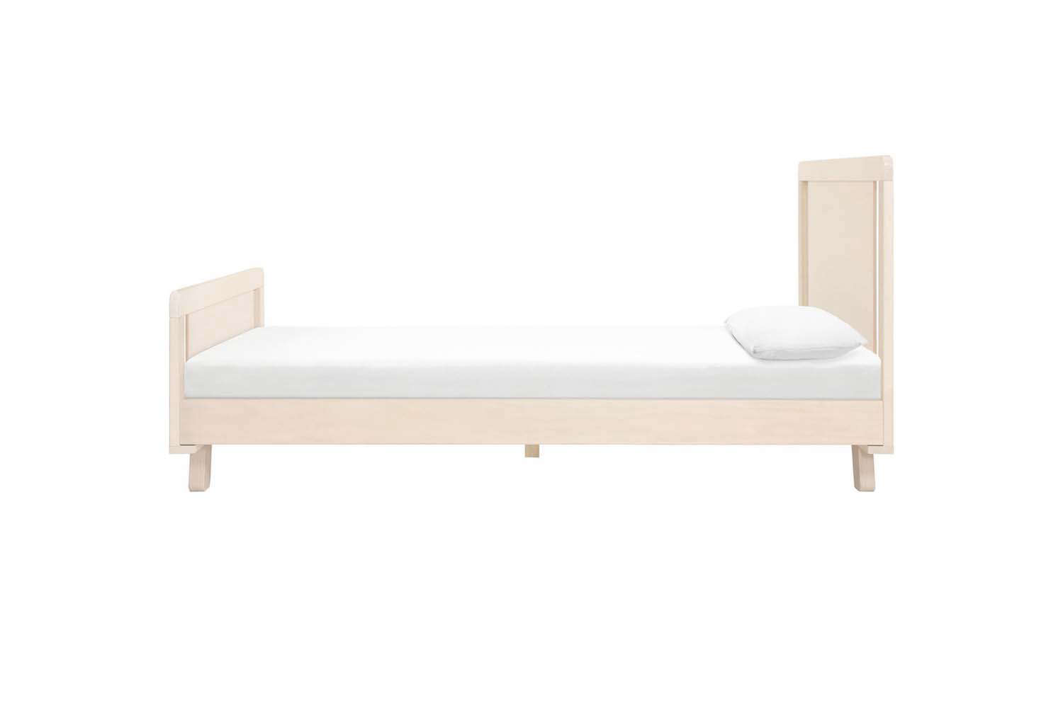 The Babyletto Hudson Platform Twin Bed in Washed White is $399 at Maisonette.