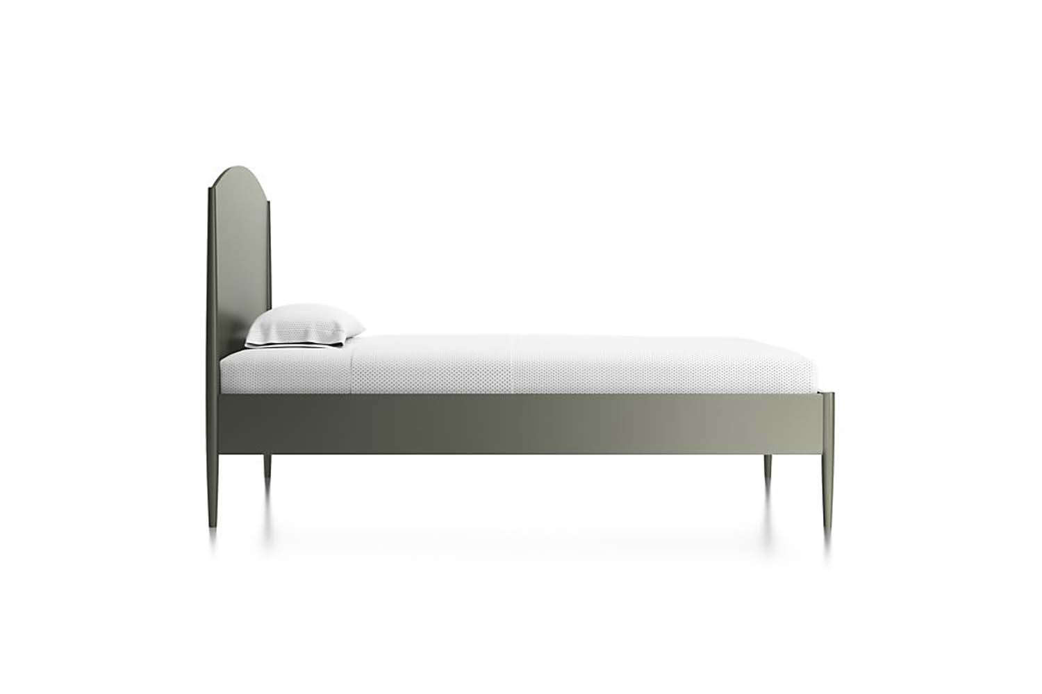 The Crate & Barrel Hampshire Olive Green Arched Bed is on sale for $9.65 to $594. depending on size.