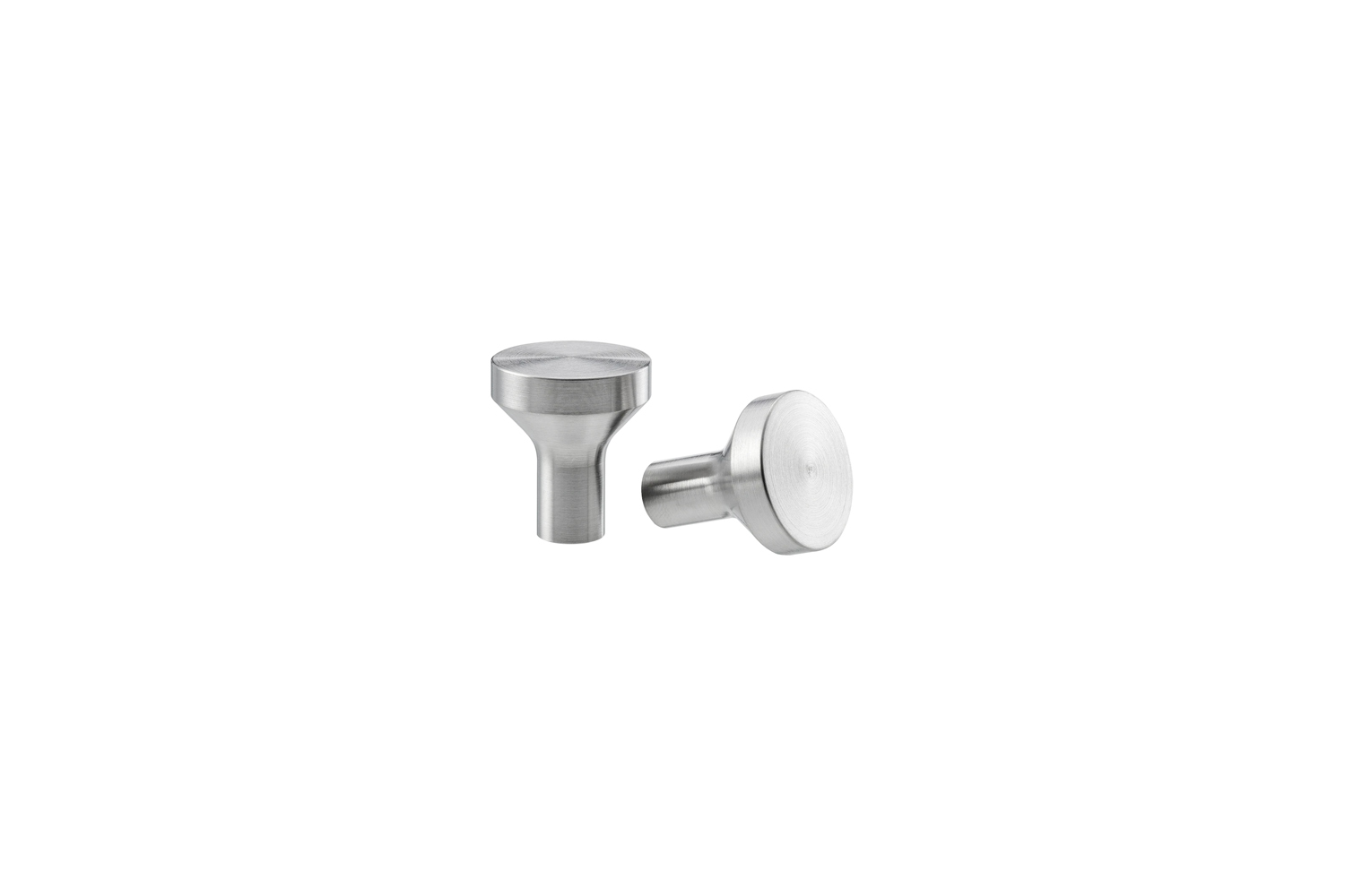 the affordable ikea bagganas knob in stainless steel is \$5 for a pack of \2. 14