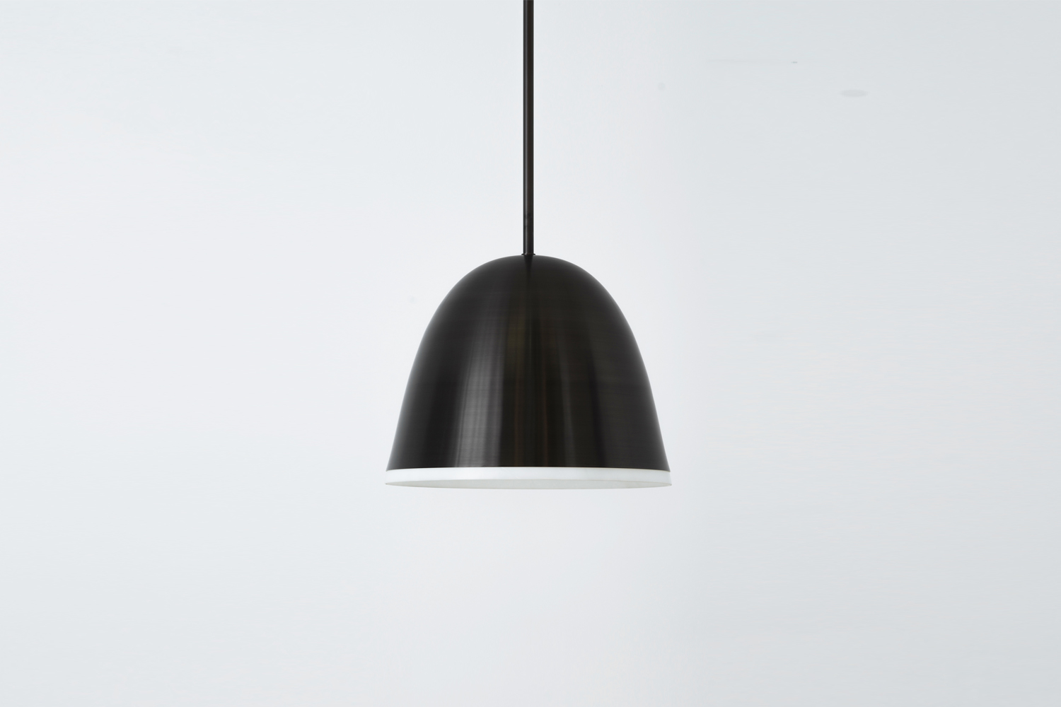 The Allied Maker Atelier Pendant -Inch Lamp in blackened brass and glass is $4,0.