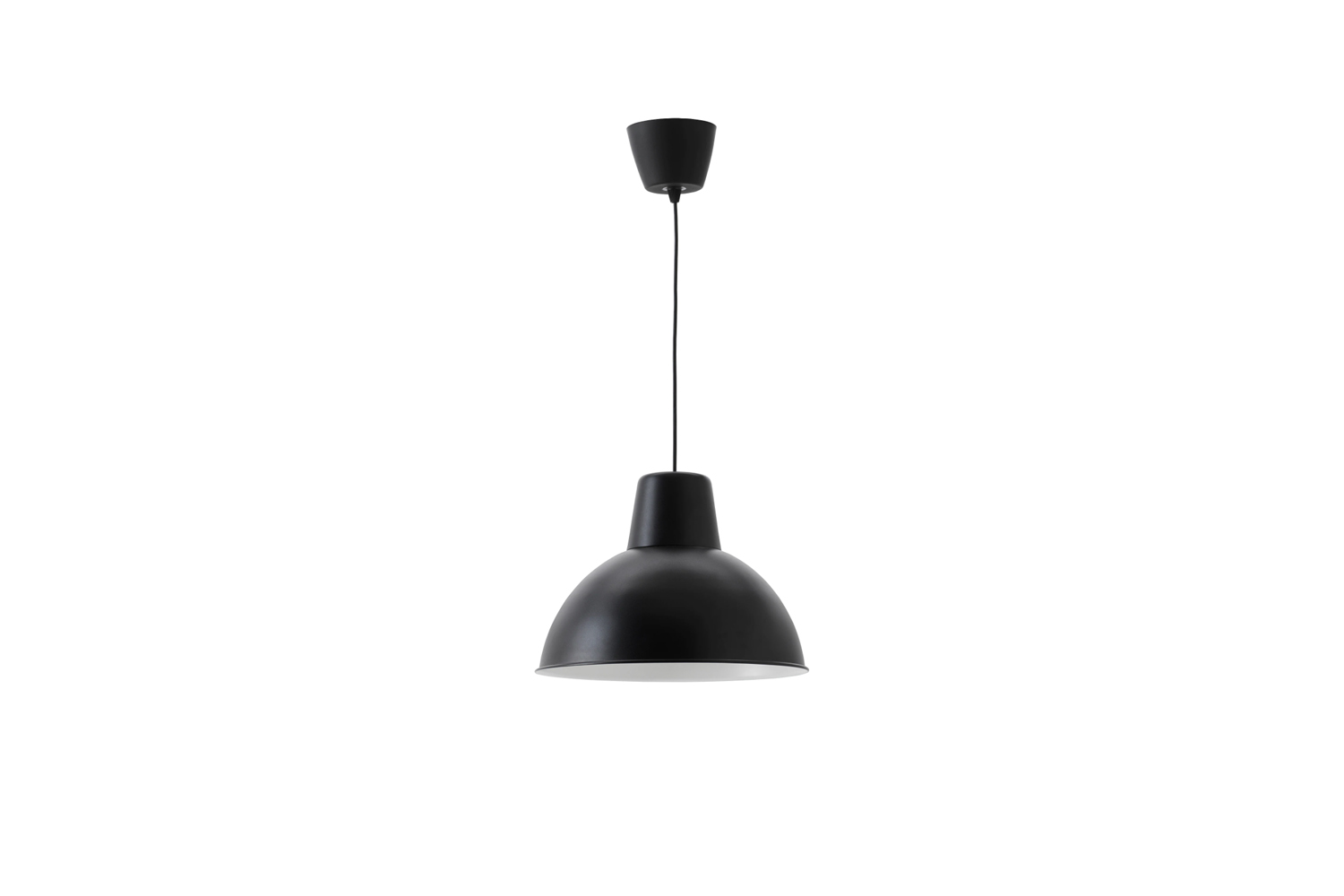 The most economical pendant on our list is the Ikea Skurup Pendant Lamp in black for $.99.