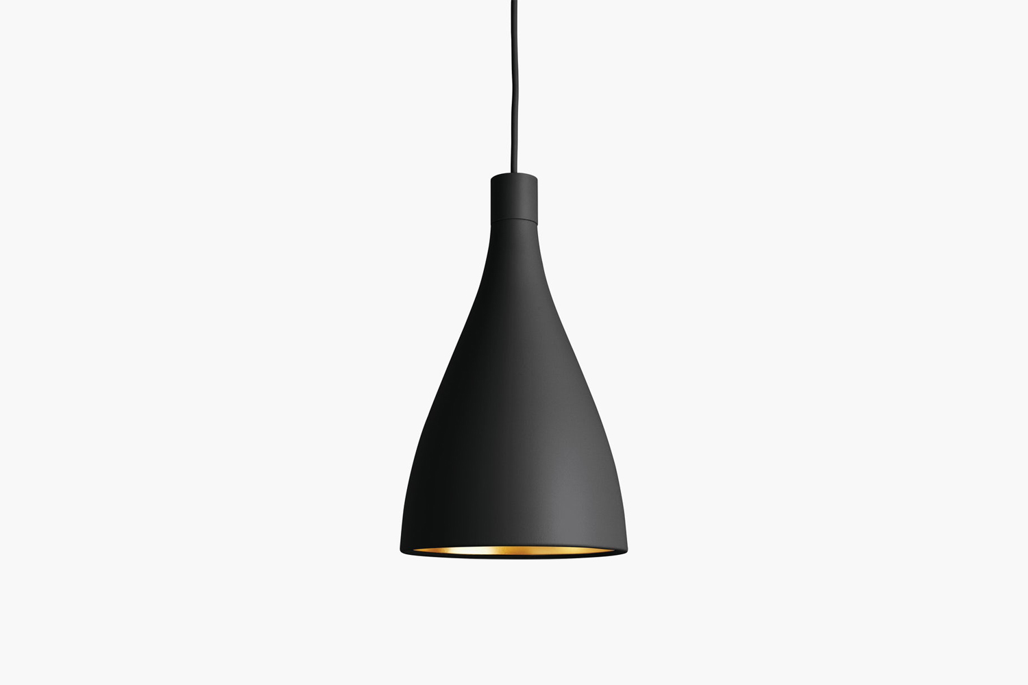 The Swell LED Pendant Light in Black is available in medium, narrow, or wide, all $5 each from Design Within Reach.
