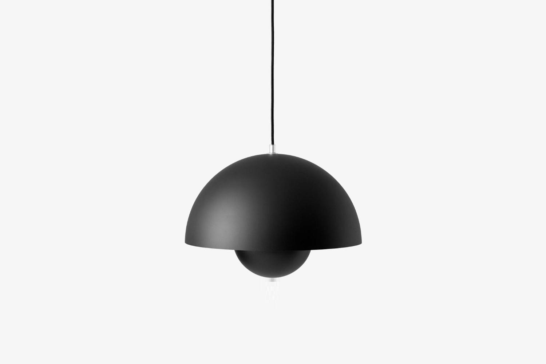 The Verner Panton Flowerpot VP7 Pendant Light shown in matte black is $7 at YLighting.