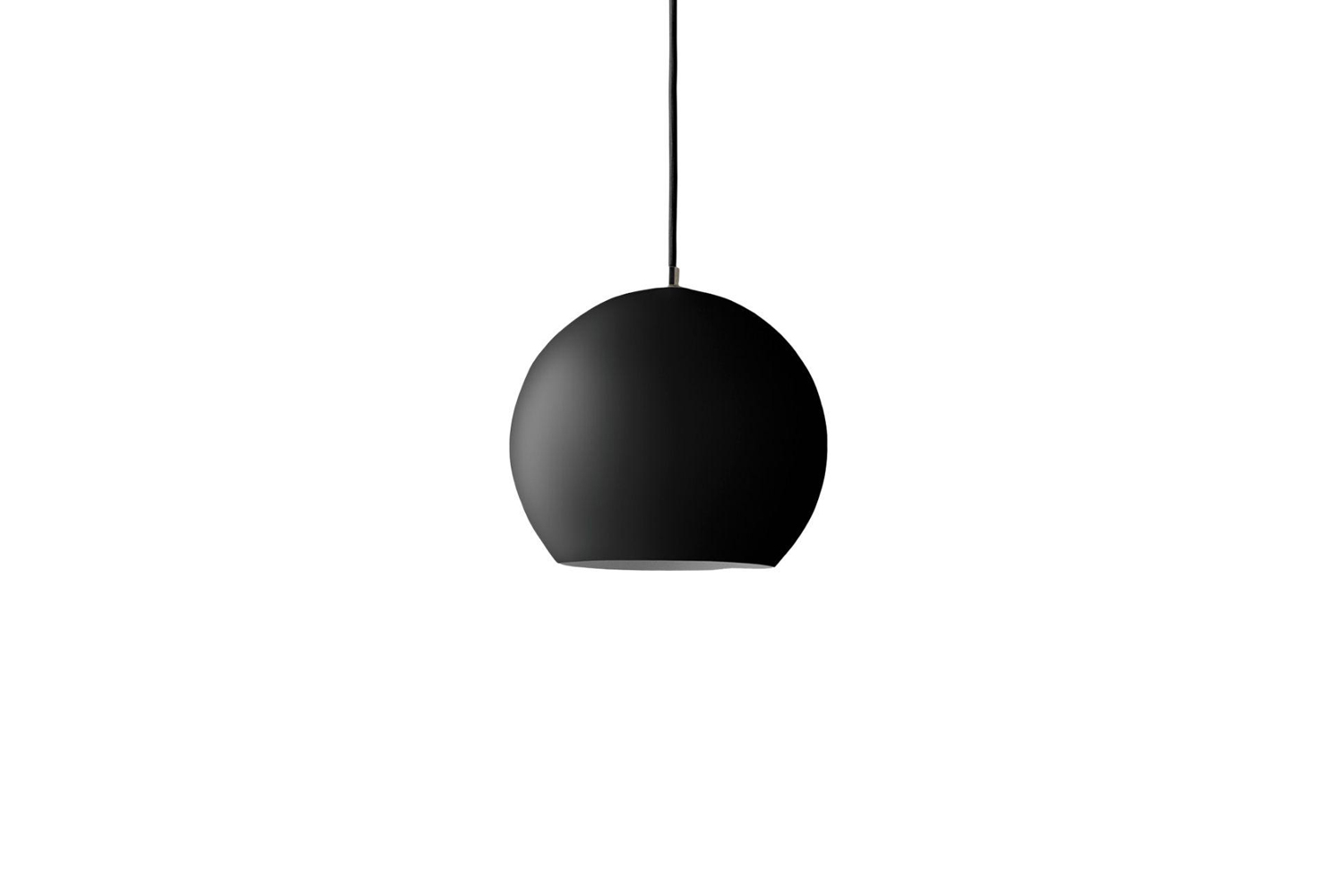 Shown in matte black, the Verner Panton Topan Pendant VP6, now manufactured by &Tradition, is $360 at Palette and Parlor.