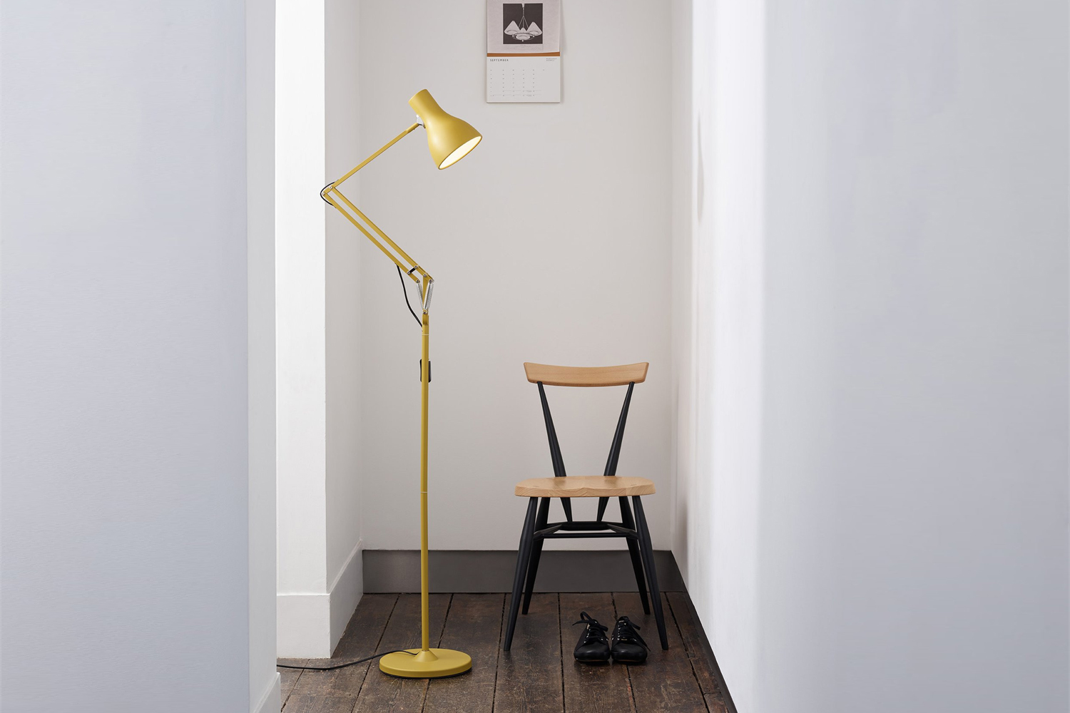 the anglepoise type 65 floor lamp in yellow ochre was designed in collaboration 15