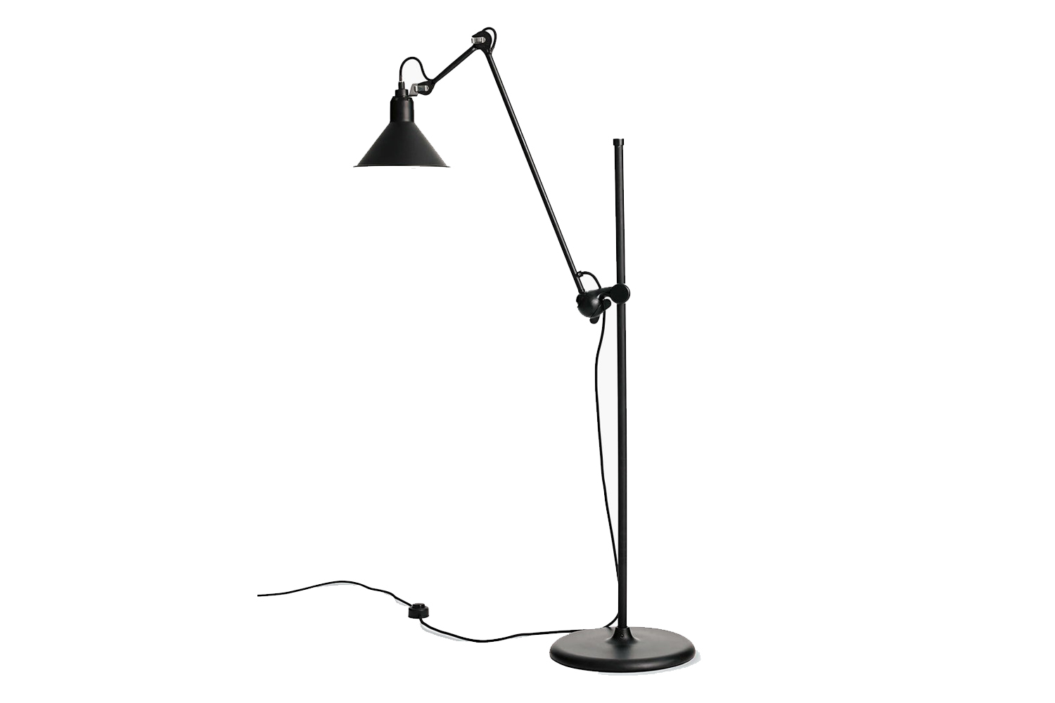 the lampe gras model \2\15l floor lamp in black is \$\1,040 at design within re 19