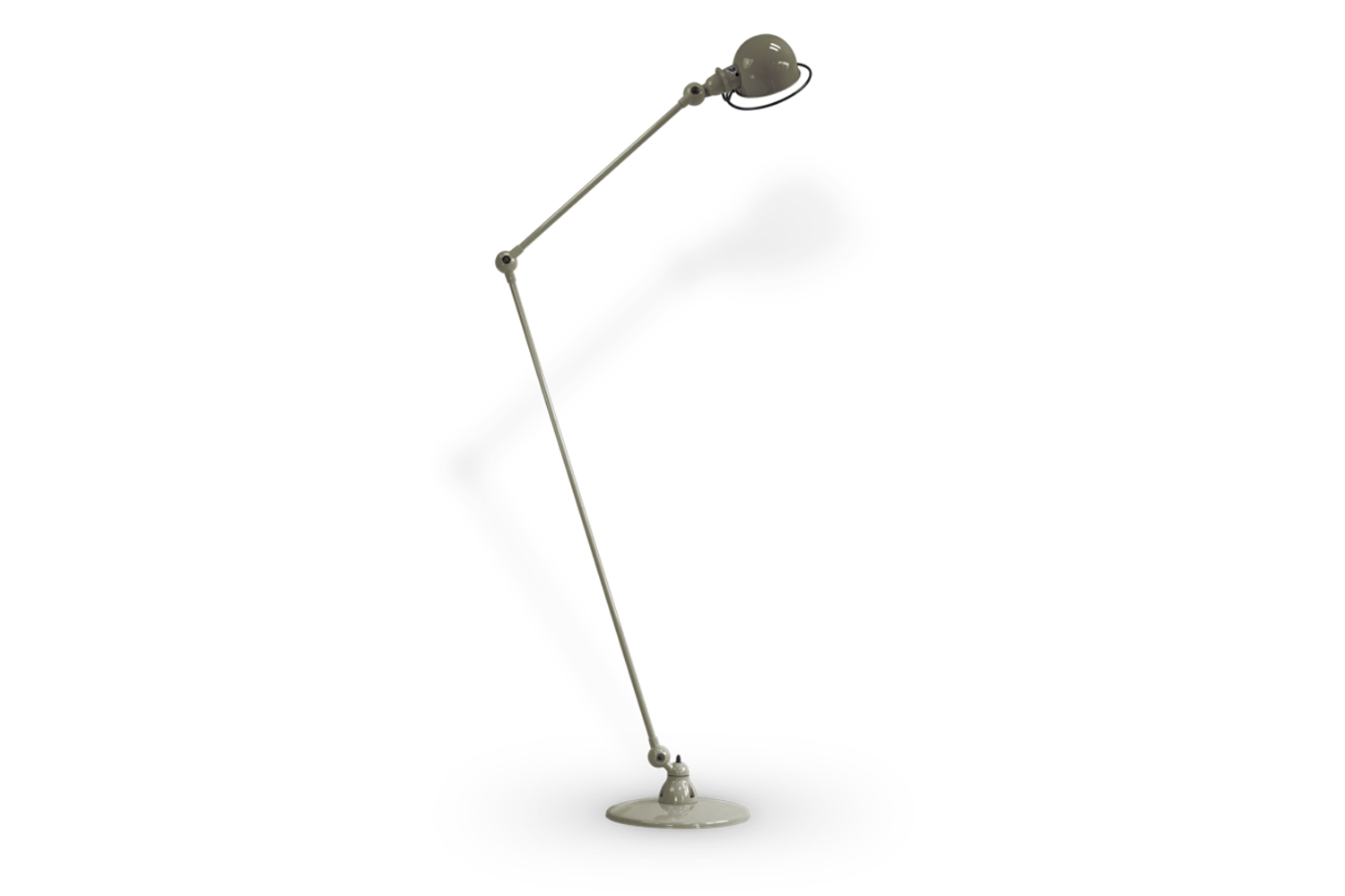 the jielde loft floor lamp d\1\260 comes in \24 colors/finishes (shown in khaki 11