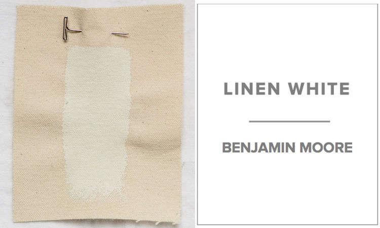 Dana of Platt Dana Architectsfavors a mix of half Benjamin Moore Linen White and half Benjamin Moore Decorator&#8