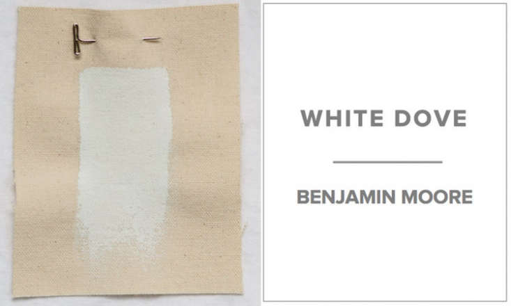 10 Easy Pieces Architects White Paint Picks The top choice for an all purpose white is Benjamin Moore&#8\2\17;s White Dove. San Francisco–based Cary Bernstein calls low VOC White Dove a &#8\2\20;foolproof, livable shade of white.&#8\2\2\1; According to John DeForest of DeForest Architects in Seattle, &#8\2\20;White Dove is clean and calm, a great backdrop for art.&#8\2\2\1; Celeste Robbins of Robbins Architecture in Winnetka, Illinois, is another fan of White Dove.