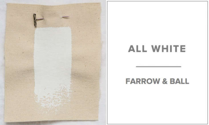 10 Easy Pieces Architects White Paint Picks For woodwork, molding, and cabinetry, Hope Dana of Platt Dana Architects in New York likes Farrow & Ball&#8\2\17;s All White (in an enamel oil base high gloss). Sample pots are available for \$8 at Farrow & Ball.