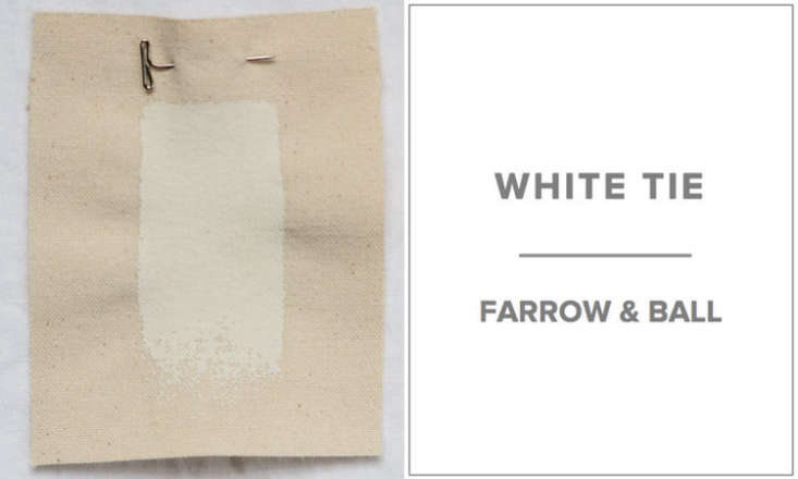 10 Easy Pieces Architects White Paint Picks The go to white paint for Brooklyn based architect Clay Miller of Bergen Street Studio is Farrow & Ball&#8\2\17;s White Tie—a warm, neutral white (&#8\2\20;the white of old, pre brightened, starched cotton,&#8\2\2\1; as the company says). Sample pots are available for \$7.50 at Farrow & Ball.
