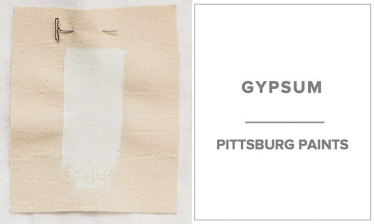 10 Easy Pieces Architects White Paint Picks Jim Poteet of Poteet Architects in San Antonio, Texas, says, &#8\2\20;Our favorite is Pittsburgh Paints 5\20 \1 Gypsum. It has a tiny amount of gray and a warmth to it that moves it away from pure white. We primarily use eggshell finish on walls and prefer that they be sprayed for a smooth, hard finish.&#8\2\2\1;