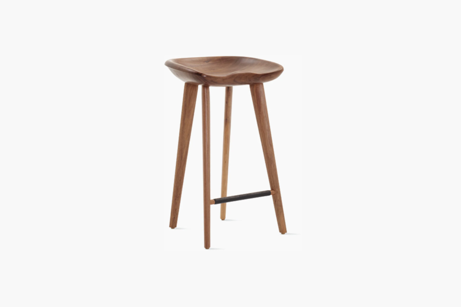 Designed by Craig Bassam, the Tractor Stool in walnut is $class=
