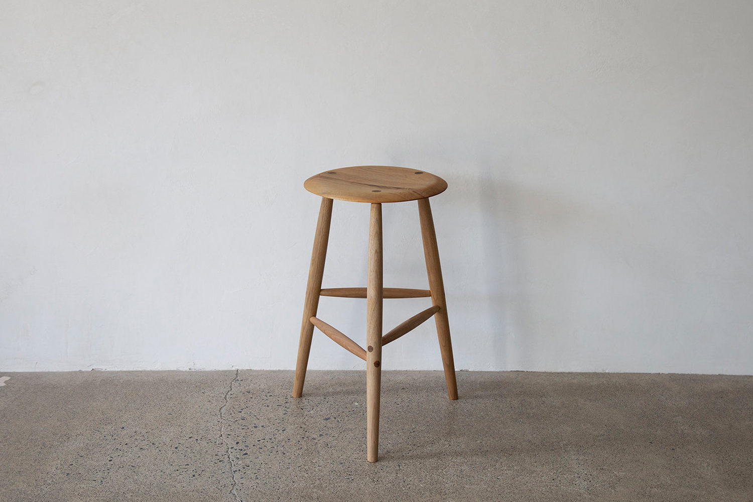 Designed and handmade in Rhinebeck, New York, the Sawkille Co. Tall Stool comes in a range of woods, finishes, and heights. Contact Sawkille Co. for price and ordering information.