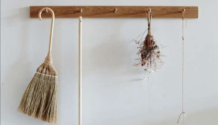 we love peg rails for storing just about everything in the home (see object les 12
