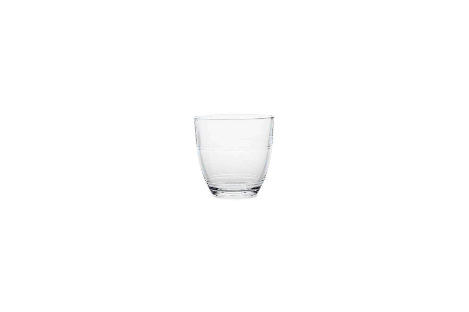 Made in France (and virtually indestructible), the Gigogne Glass by Duralex is available as a set of loading=