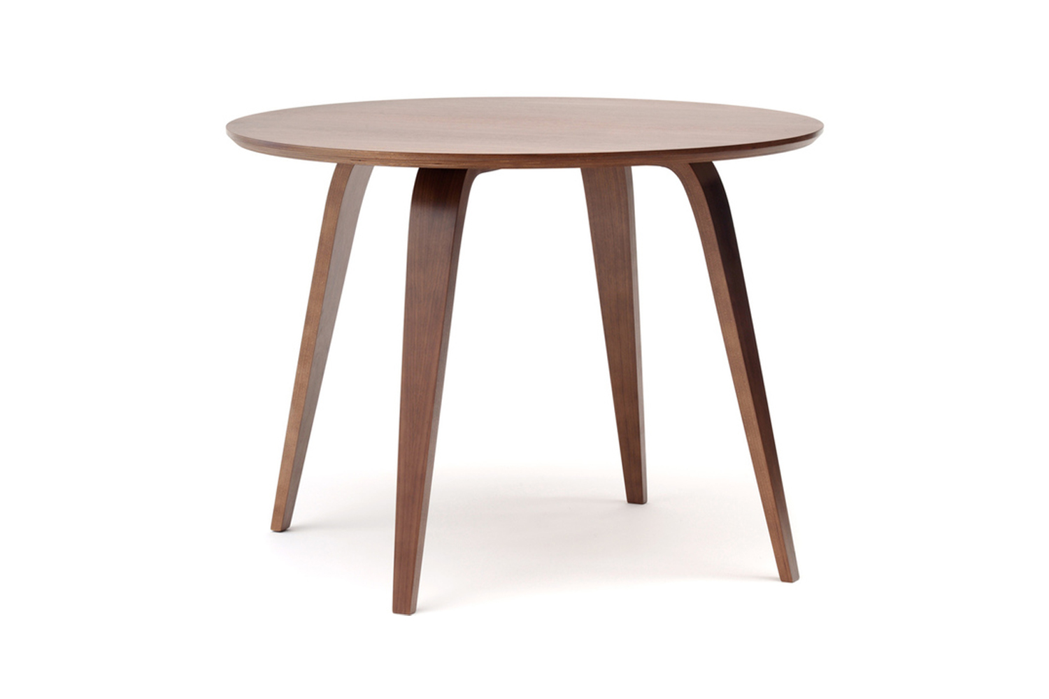 The Norman Cherner Round Table Walnut is $loading=