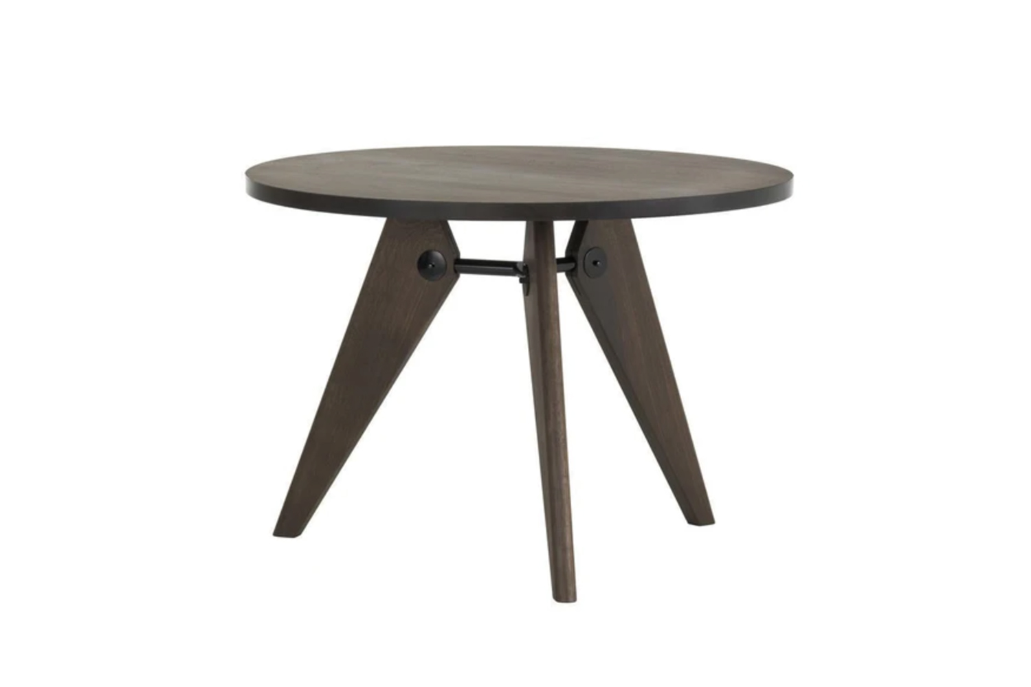 The Vitra Gueridon Table, shown in Smoked Oak, is $