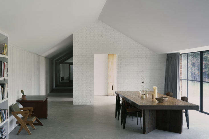 A Stable Reborn in Rural Norfolk An open plan dining and living room.