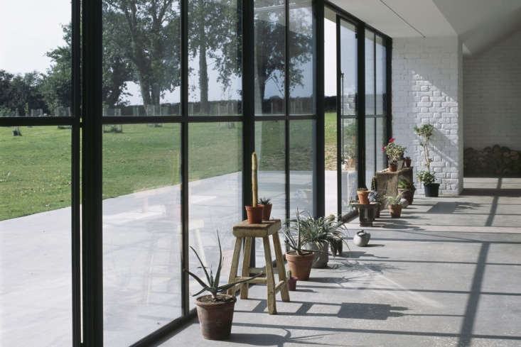 A Stable Reborn in Rural Norfolk Rows of succulents create a greenhouse feel.