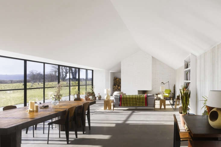 A Stable Reborn in Rural Norfolk Shave&#8\2\17;s collection of midcentury furniture is perfectly at home in the open plan living area.