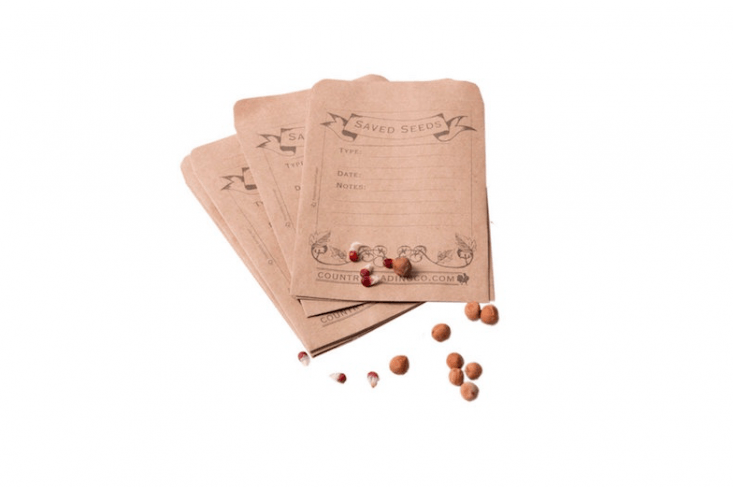 Our favorite solutions for seeds: Easy Pieces: Seed-Saving Envelopes. (Hint: They also make clever stocking stuffers or dinner party favors.)