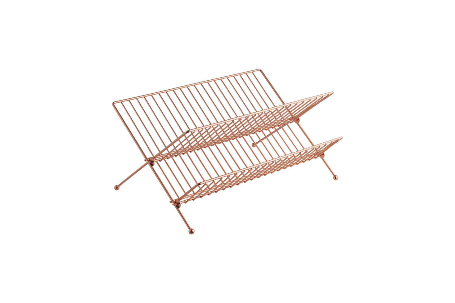 The Alka Copper Finish Metal Dish Drainer is £ at Habitat.
