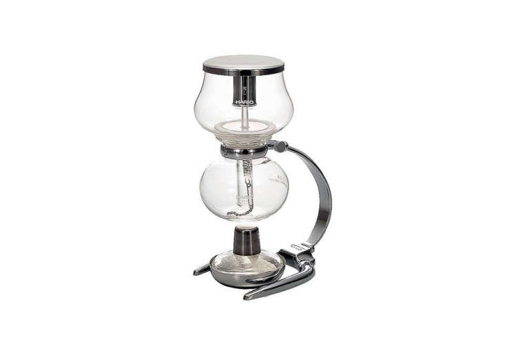 The Hario Mini,a one-cup stainless steel and glass coffee maker from a Japanese company that offers a range of siphon designs; $7