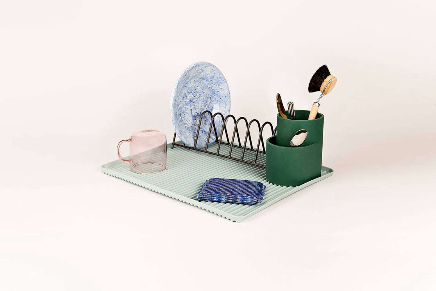 New from Hay, the Dish Drainer set is made up of three components: a Cup, Rack, and Tray. Each comes in a variety of colors and is available through Hay stockists.