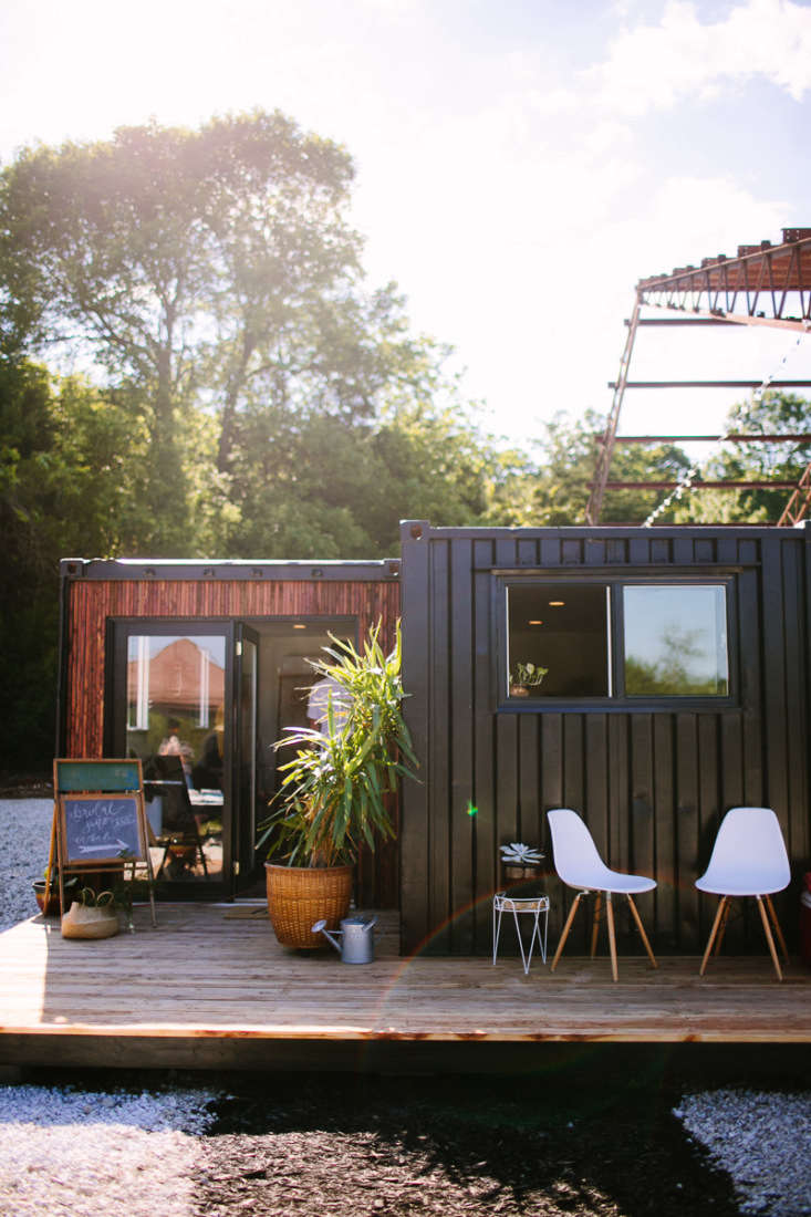 an insulated shipping container is repurposed as a modern &#8\2\20;glamping 11
