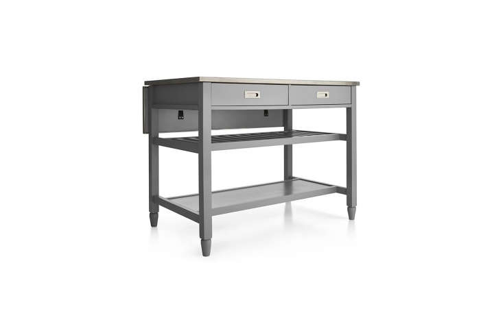 The Sheridan Kitchen Island from Crate & Barrel is available in gray, white, and black for $699.