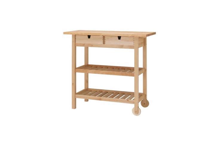 10 Easy Pieces Instant Kitchen Islands Ikea&#8\2\17;s Förhöja Kitchen Cart in birch is \$\109.
