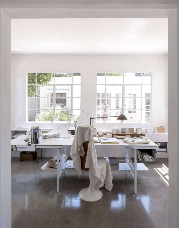 polished concrete floors in the office (and rest of the house) of michaela sche 11