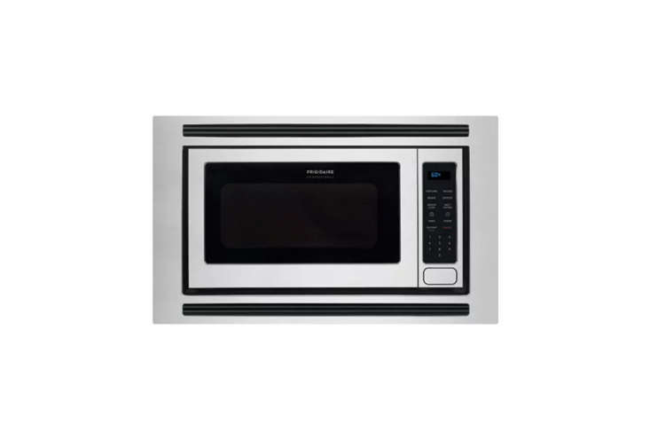 10 Easy Pieces Builtin Microwaves The Frigidaire Professional \24 Inch Built in Microwave in Stainless Steel is \$353.\20 at US Appliance.For added polish, the Frigidaire Microwave Trim Kit is offered for \$\147.