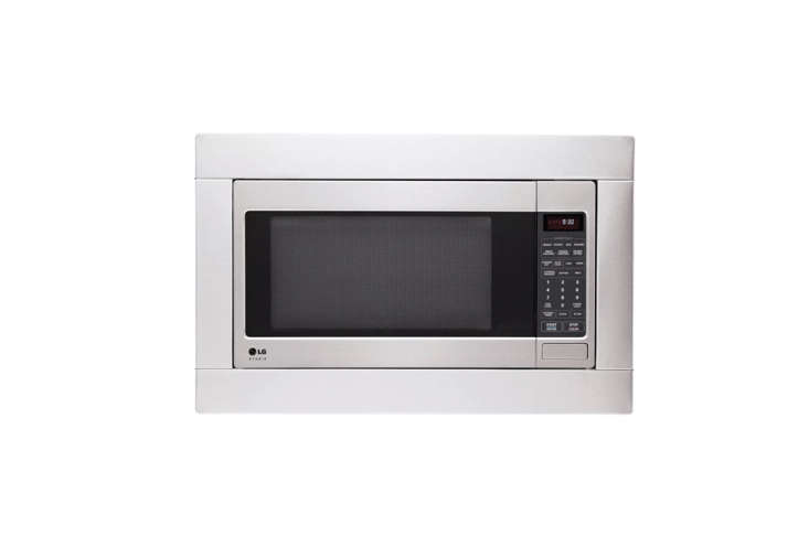 10 Easy Pieces Builtin Microwaves The best budget choice? The LG Studio Series Microwave is a countertop microwave that comes with an optional LG Studio Series Built in Trim Kit for an integrated look; \$\199 at AJ Madison, trim kit \$\169.