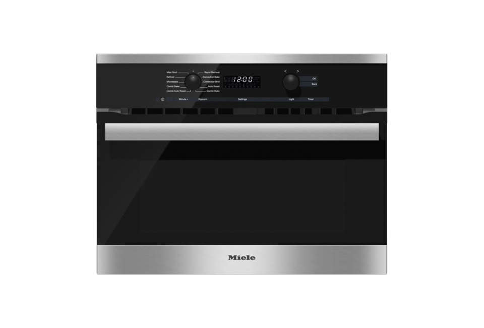 The Miele H 60 BM Speed Oven in black.